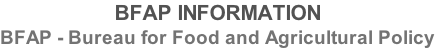 BFAP INFORMATION BFAP - Bureau for Food and Agricultural Policy
